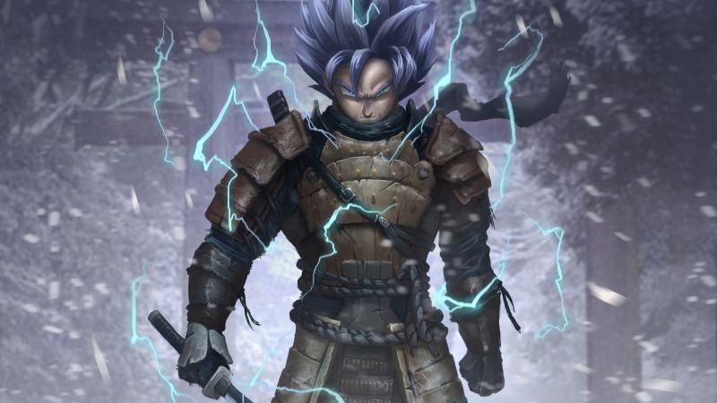 Goku, Samurai, Artwork, Dragon Ball Z, Wallpaper