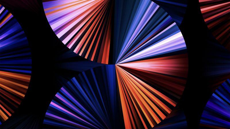 iPad Pro 2021, Apple Event 2021, Purple, Dark, Colorful, Stock, Multicolor, Wallpaper
