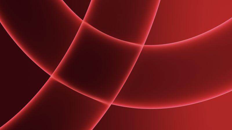 iMac 2021, Apple Event 2021, Stock, Red background, 5K, Wallpaper