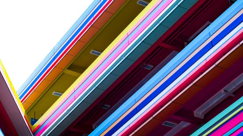 Modern architecture, School, Kindergarten, Building, Colorful, Wallpaper