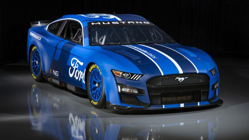 Ford Mustang, NASCAR Race Car, 2021, 5K, 8K, Wallpaper