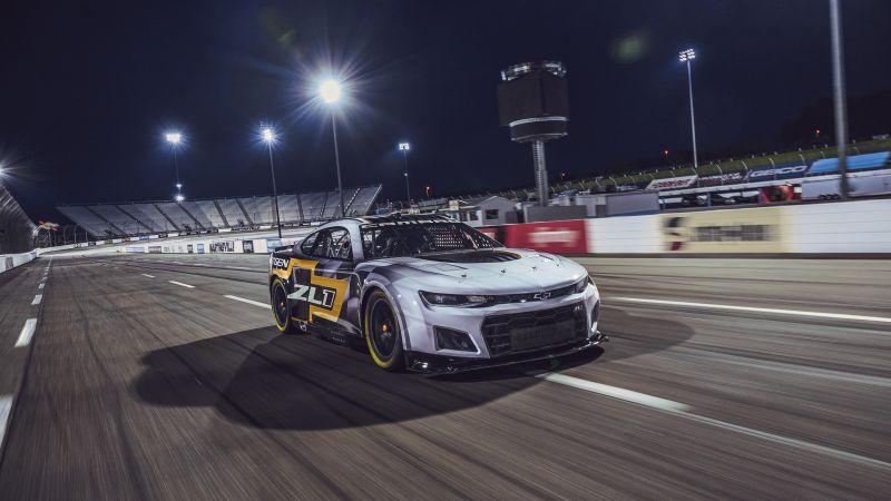 Chevrolet Camaro ZL1, NASCAR Race Car, 2021, 5K, Wallpaper