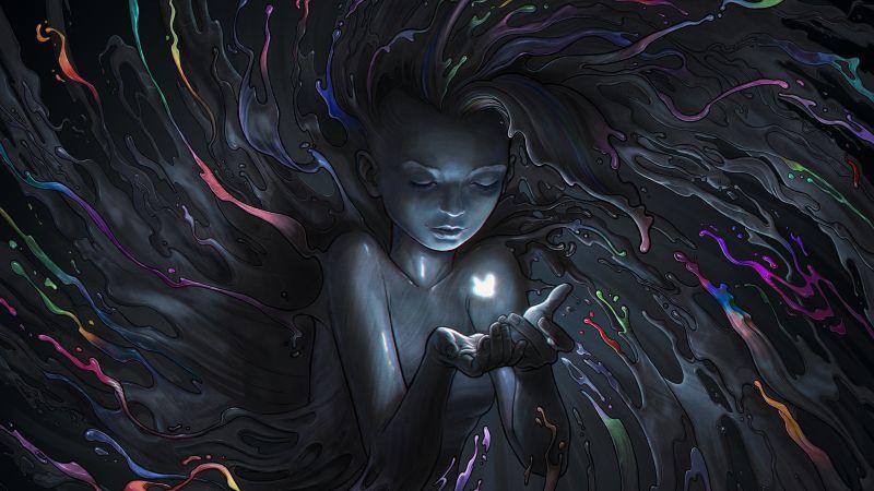 Mystic, Fairy, Girl, Magical, Dark, CGI, Wallpaper