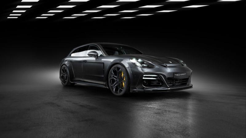 TechArt Porsche Panamera Sport Turismo Grand GT, 2021, Wallpaper