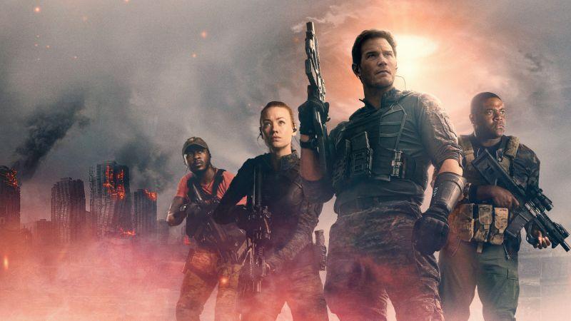 The Tomorrow War, 2021 Movies, Edwin Hodge, Chris Pratt, Yvonne Strahovski, Sam Richardson, Wallpaper