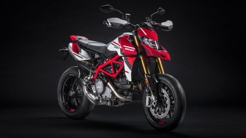 Ducati Hypermotard 950 SP, 2022, 5K, 8K, Black background, Wallpaper