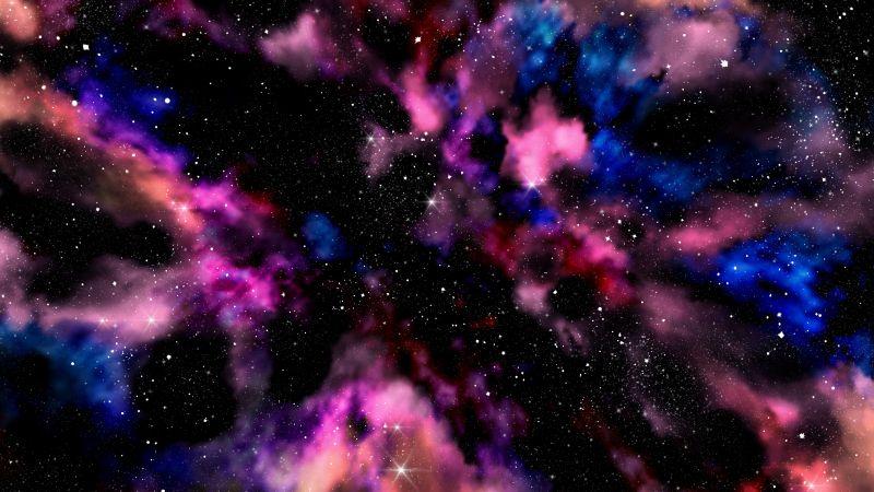 Galaxy, Milky Way, Stars, Deep space, Colorful, Astronomy, Nebula, Wallpaper