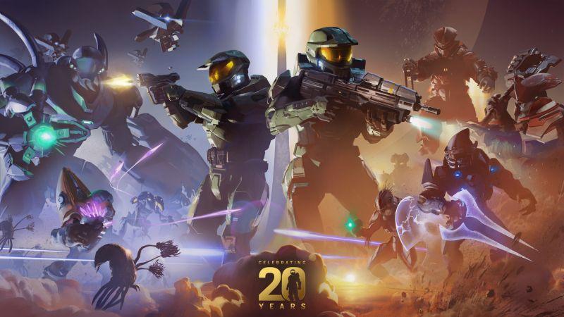 Halo, Xbox, 20th Anniversary, 2021, Wallpaper