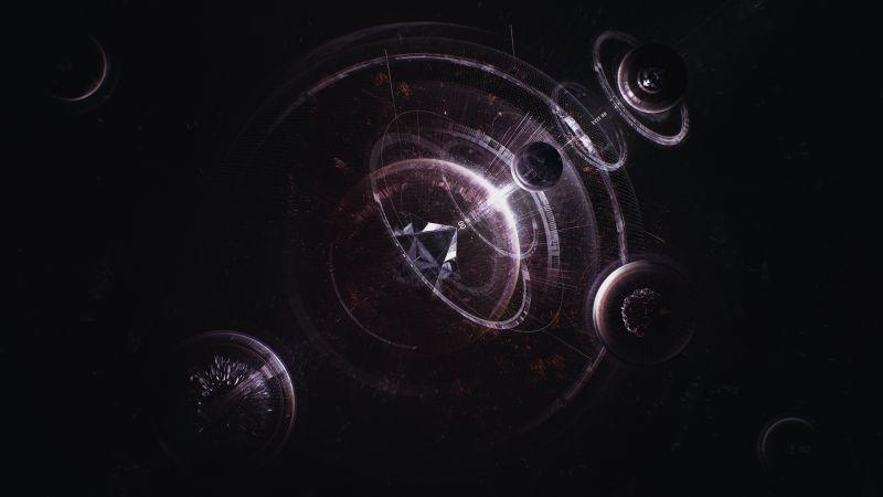 Vortex, Black hole, Astronomy, Wallpaper