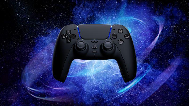 Sony PS5, DualSense Wireless Controller, Midnight Black, Wallpaper
