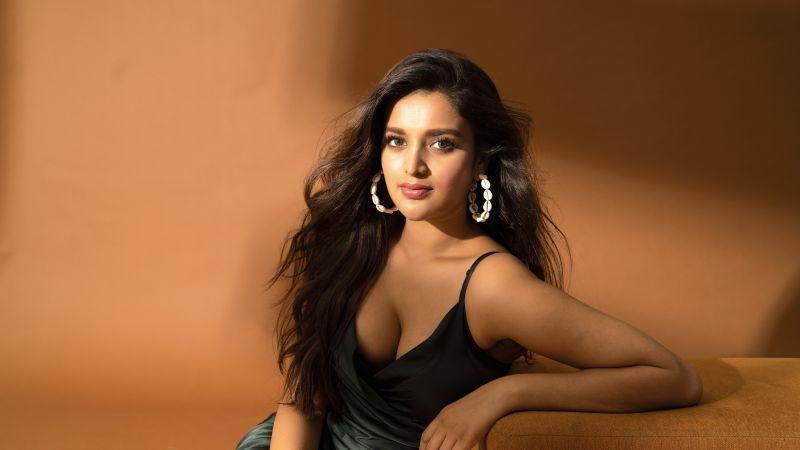 Nidhhi Agerwal, Indian actress, South Actress, 5K, 8K, Wallpaper