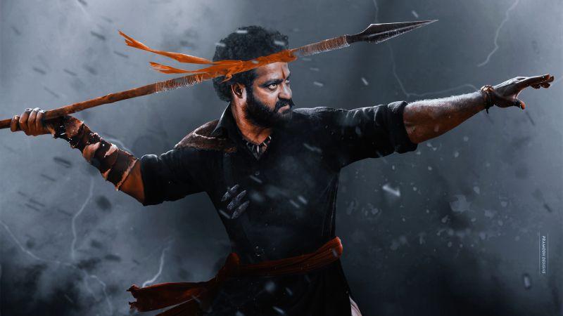 RRR, Jr NTR, Komaram Bheem, SS Rajamouli, Telugu movies, 2021, 5K, Wallpaper