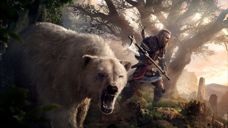 Eivor, Viking raider, Assassin's Creed Valhalla, PC Games, PlayStation 4, PlayStation 5, Xbox One, Xbox Series X, 2020 Games, 5K, Wallpaper