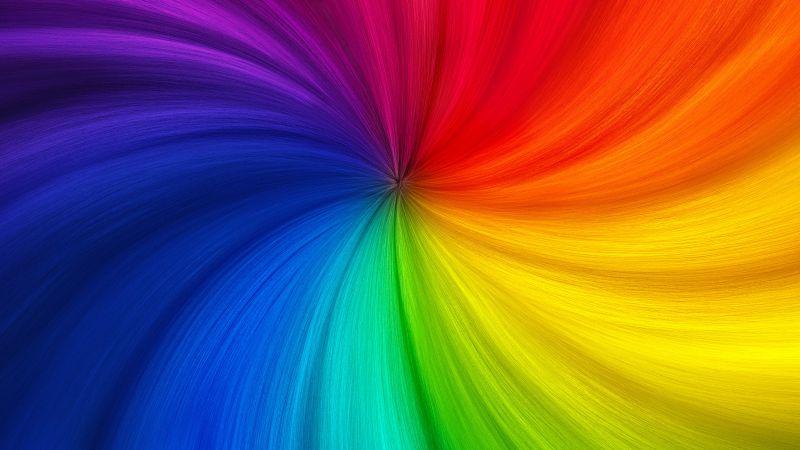 Swirl, Colorful, Rainbow colors, Multicolor, Wallpaper
