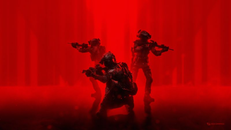 Soldiers, Military, Operation, Red background, Wallpaper