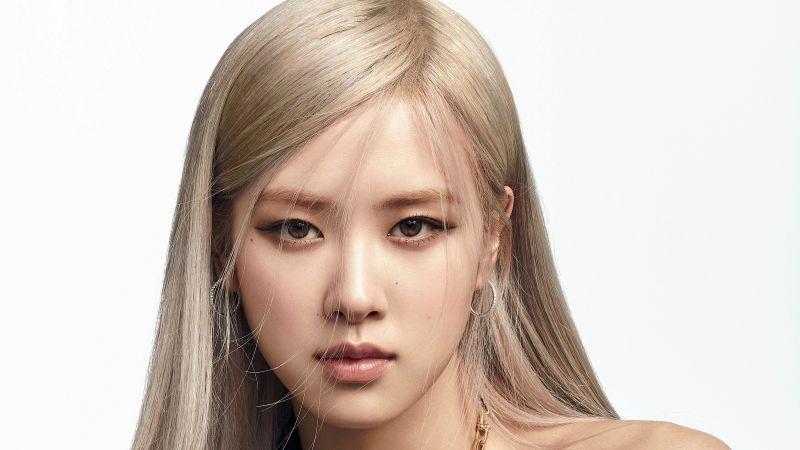 Rose, Blackpink, Portrait, K-Pop singer, Wallpaper