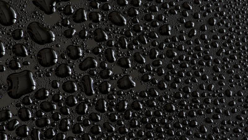 Water droplets, Black background, Texture, Rain drops, Pattern, Backgrounds, Wallpaper