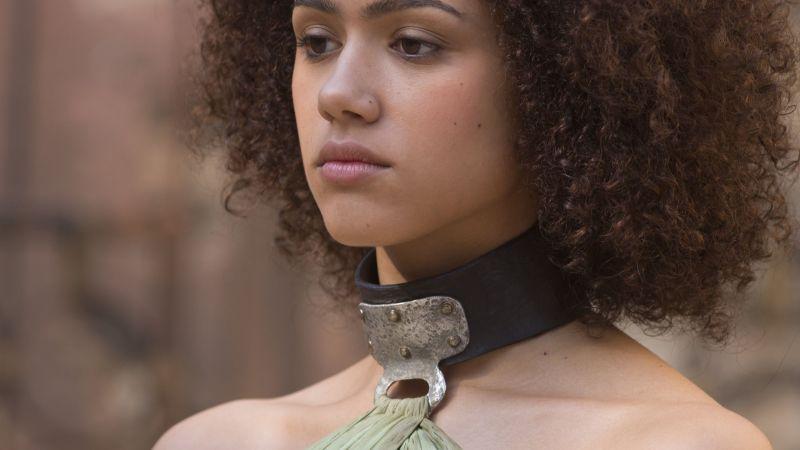 Missandei, Nathalie Emmanuel, British actress, Game of Thrones, Wallpaper
