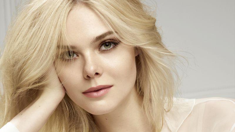 Elle Fanning, American actress, Portrait, Beautiful actress, 5K, Wallpaper