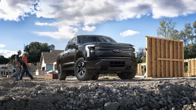 Ford F-150 Lightning Pro, Electric trucks, 2022, 5K, 8K, Wallpaper