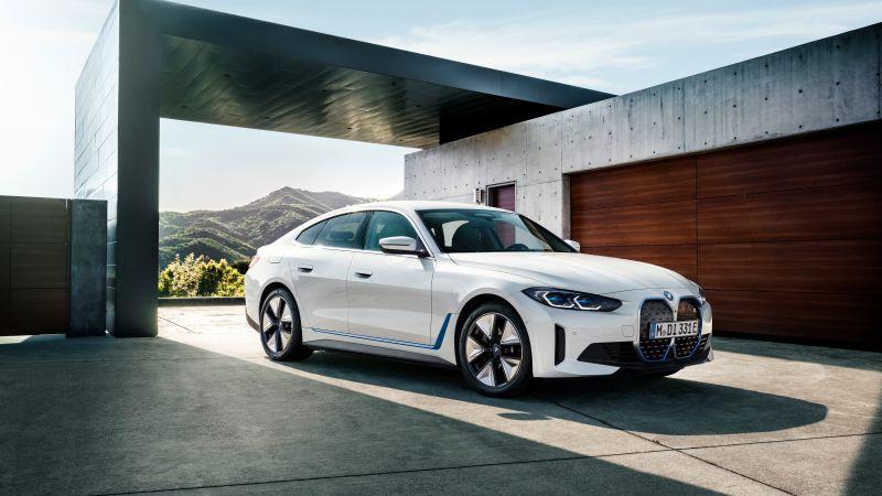 BMW i4 eDrive40, Electric cars, 2021, 5K, Wallpaper