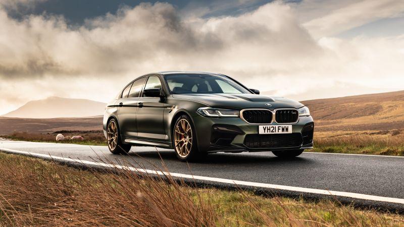 BMW M5 CS, High Performance Sedan, 2021, 5K, Wallpaper