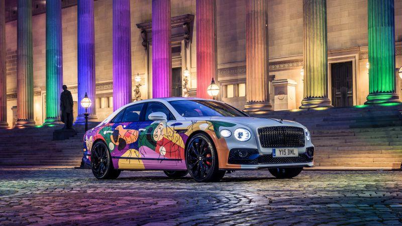 Bentley Flying Spur Unifying Spur, Art Car, 2021, 5K, Wallpaper