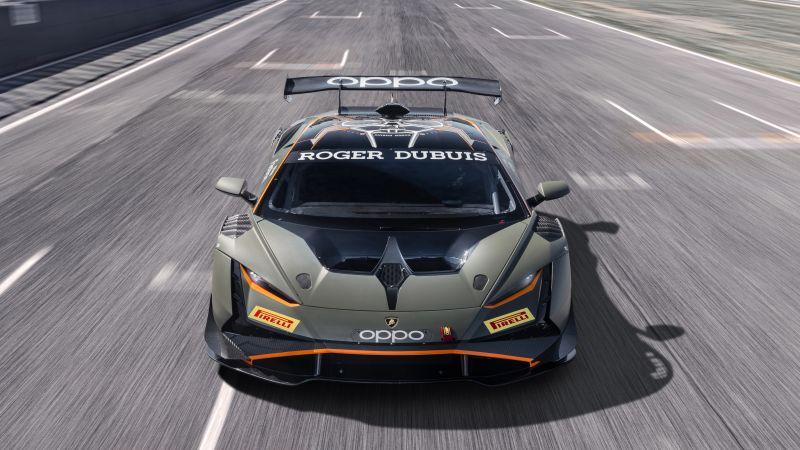 Lamborghini Huracán Super Trofeo EVO2, Race cars, 2022, 5K, Wallpaper