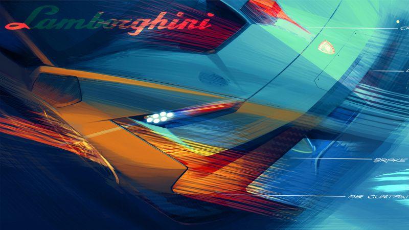 Lamborghini Huracán Super Trofeo EVO2, Race cars, 2022, Wallpaper