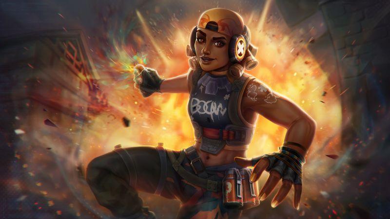Raze, Valorant, PC Games, 2021, Wallpaper