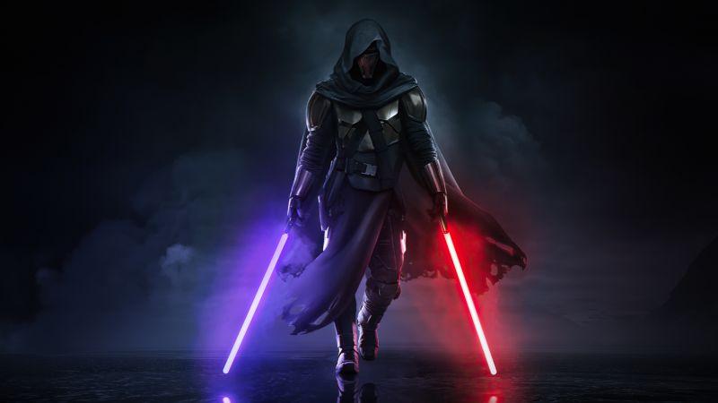 Sith, Star Wars, Lightsaber, Dark background, Wallpaper