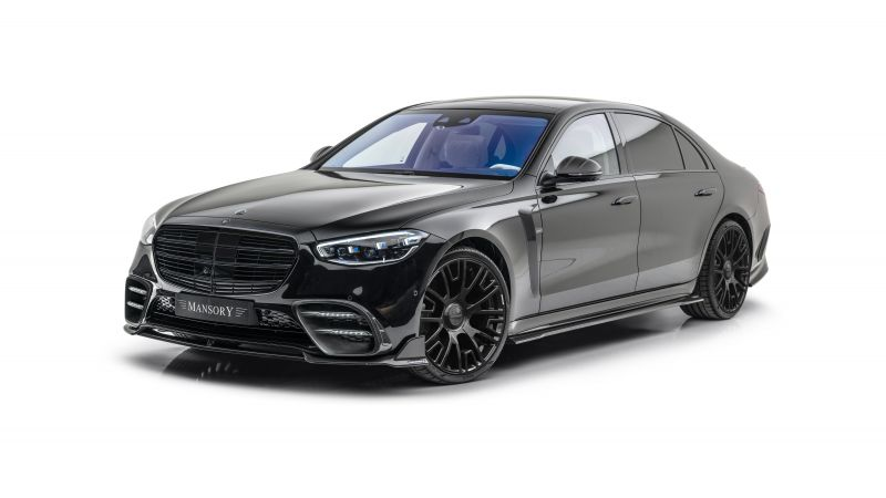 Mansory Mercedes-Benz S-Klasse, 2021, 5K, White background, Wallpaper