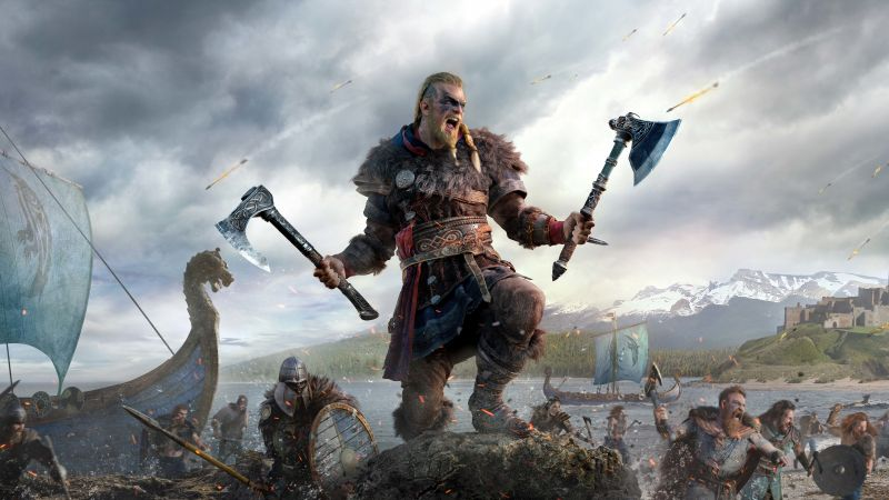 Assassin's Creed Valhalla, Eivor, Viking raider, PC Games, PlayStation 4, PlayStation 5, Xbox One, Xbox Series X, 5K, 2020 Games, Wallpaper