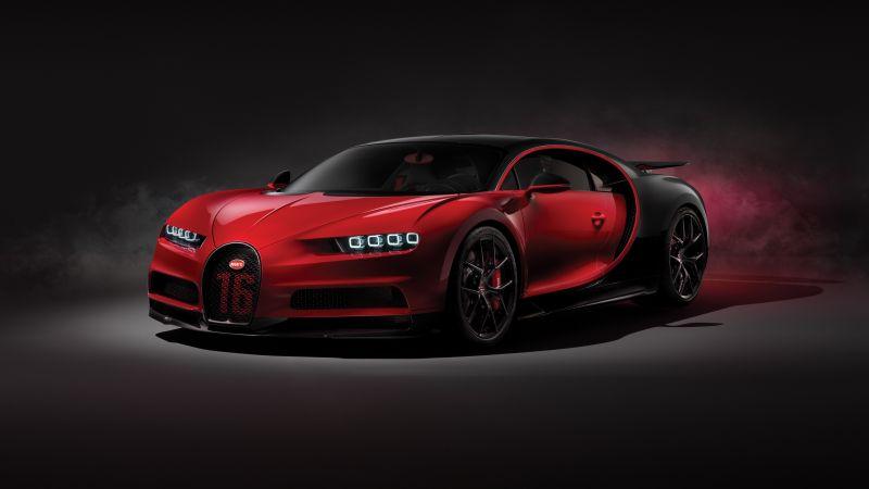 Bugatti Chiron Sport, Hypercars, Sports cars, Wallpaper