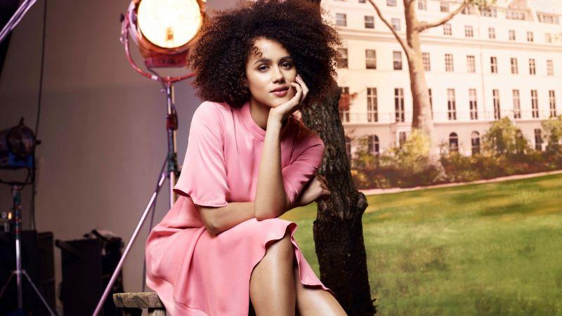 Nathalie Emmanuel, Beautiful actress, British actress, Wallpaper