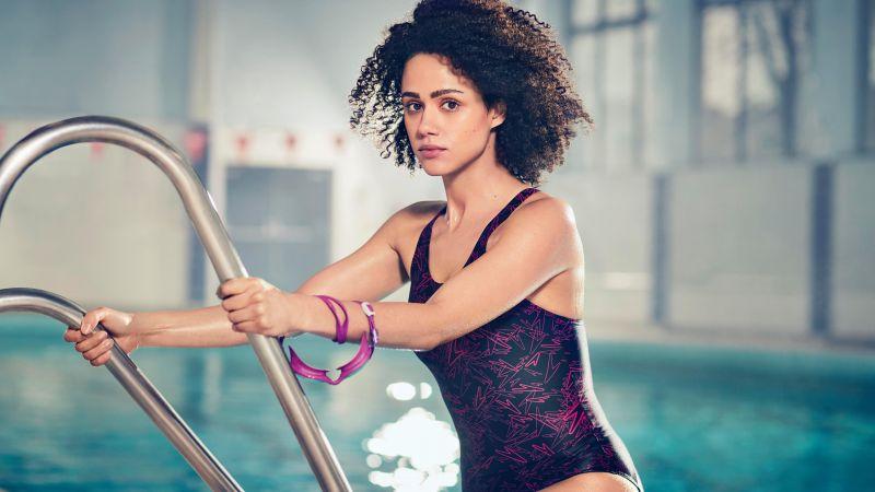 Nathalie Emmanuel, British actress, Hollywood, Swimsuit, 5K, 8K, Wallpaper