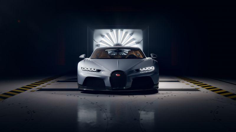 Bugatti Chiron Super Sport, Hyper Sports Cars, Dark background, 2021, Wallpaper