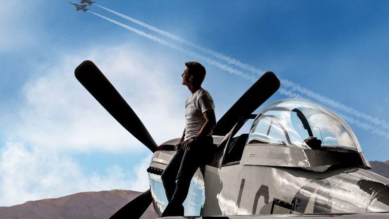 Top Gun: Maverick, Tom Cruise, Action movies, 2020 Movies, 5K, 8K, Wallpaper