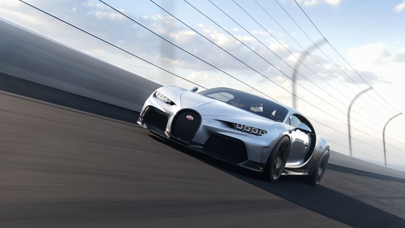 Bugatti Chiron Super Sport, Hyper Sports Cars, Race track, 2021, Wallpaper