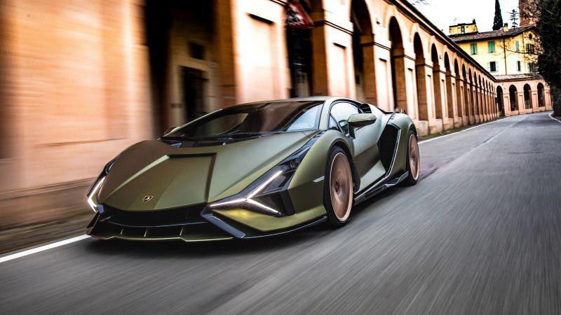 Lamborghini Sián FKP 37, Hybrid cars, Sports cars, 2021, Wallpaper