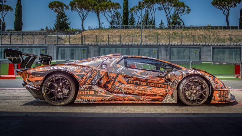 Lamborghini Essenza SCV12, Hypercars, 2021, 5K, Wallpaper