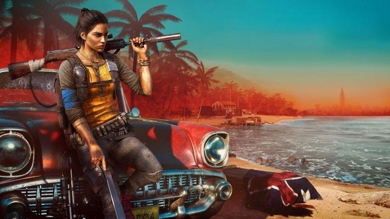 Far Cry 6, Clara Garcia, PC Games, PlayStation 4, Amazon Luna, Xbox One, PlayStation 5, Xbox Series X and Series S, 2021 Games, 5K, 8K, Wallpaper
