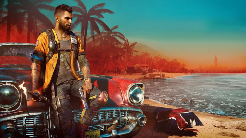 Far Cry 6, Dani Rojas, PC Games, PlayStation 4, Amazon Luna, Xbox One, PlayStation 5, Xbox Series X and Series S, 2021 Games, 5K, 8K, Wallpaper
