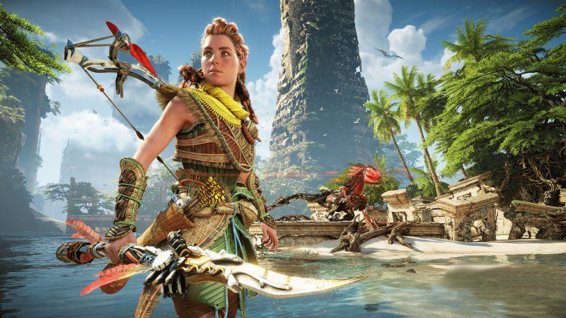 Horizon Forbidden West, Aloy, 2021 Games, PlayStation 4, PlayStation 5, 5K, Wallpaper