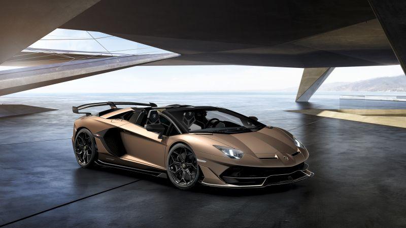 Lamborghini Aventador SVJ Roadster, Bronzo Zenas, 2021, 5K, Wallpaper