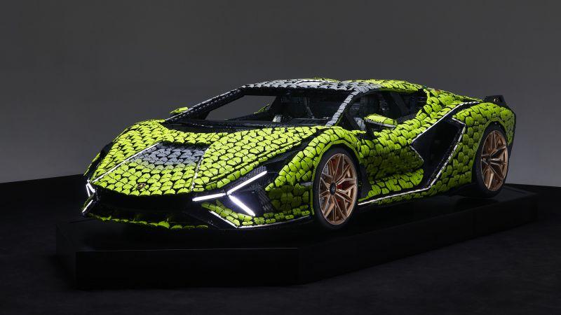 Lamborghini Sián FKP 37, LEGO, 2021, Wallpaper