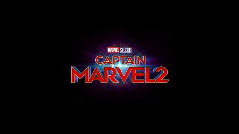 The Marvels, Captain Marvel 2, 2022 Movies, Black background, Marvel Comics, Wallpaper