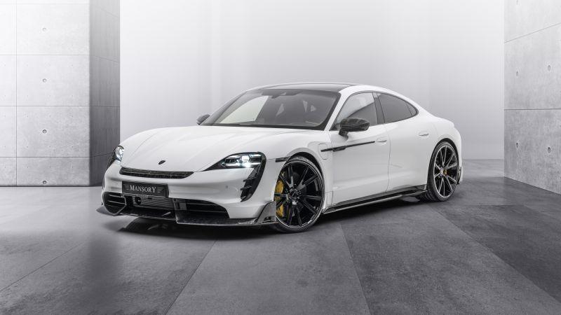 Mansory Porsche Taycan Turbo S, 2021, 5K, 8K, Wallpaper