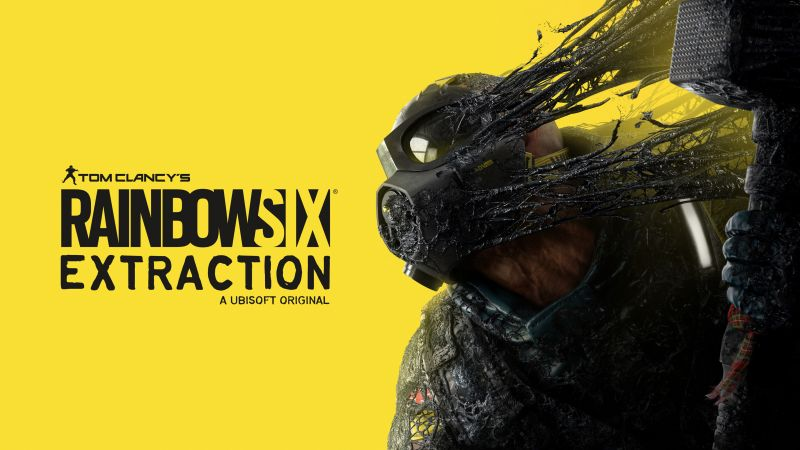 Tom Clancy's Rainbow Six Extraction, E3 2021, 2021 Games, Yellow background, PC Games, PlayStation 4, PlayStation 5, Xbox One, Xbox Series X and Series S, Wallpaper