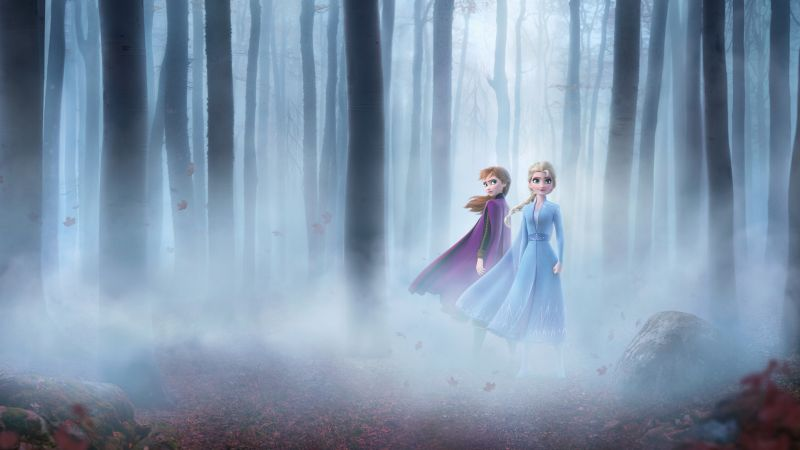 Frozen 2, Anna, Elsa, Enchanted Forest, 5K, 8K, Wallpaper